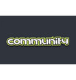 community word text logo design green blue white vector image vector image