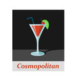 cosmopolitan cocktail menu item or any kind of vector image