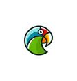 creative parrot logo design template vector image