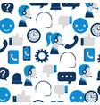 customer service support communication operator vector image