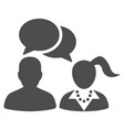 dating chat flat icon vector image vector image