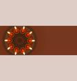 diya and rangoli design for diwali festival vector image