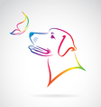 Dog and Butterfly vector image vector image