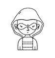 dotted shape thief criminal with mask and coat vector image