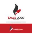 eagle bird logo design vector image