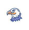 eagle head icon bird thin line art colorful vector image