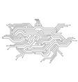 electronics board circuit board electronic hi vector image