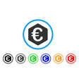 euro finance rounded icon vector image vector image
