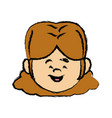 face girl young little character female person vector image vector image