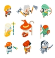 Fantasy RPG Game Characters Isometric Icons vector image vector image