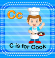 flashcard letter c is for cook vector image vector image