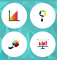 flat icon graph set of pie bar segment graph and vector image vector image