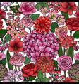 garden flowers seamless pattern vector image vector image