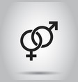 gender sign icon on isolated background business vector image vector image