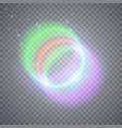 glittering magic circles vector image vector image