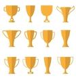 Golden cups vector image