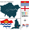 Greater London vector image