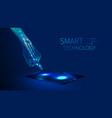 hand smart technology vector image