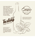 Handwritten wine tasting sign vector image vector image