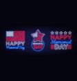 happy memorial day collection neon signs neon vector image vector image