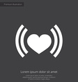 heart beat premium icon vector image