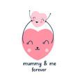 heart for girl print design vector image