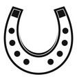 horseshoe icon simple vector image vector image