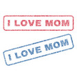 i love mom textile stamps vector image vector image