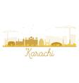 Karachi City skyline golden silhouette vector image vector image