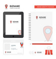 location business logo tab app diary pvc employee vector image vector image
