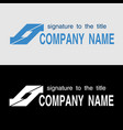 logo template with oblique arrows on light and on vector image