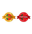made in portugal label stamp for product vector image vector image