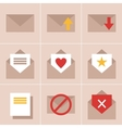 mail icons vector image vector image