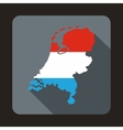 Map of Holland icon flat style vector image vector image