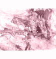 marble rose gold background marbling vector image vector image