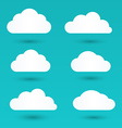 messages in form white clouds vector image vector image