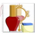 Mirror and nail polish vector image
