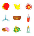 moviemaking icons set cartoon style vector image vector image