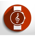 music watch web icon vector image