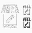 online pharmacy mesh carcass model vector image vector image