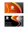 Orange business card design vector image vector image