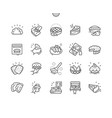 pies and pasties well-crafted pixel perfect vector image vector image