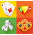 Poker icon in vector image vector image