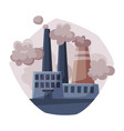 processing power plant ecological problem vector image