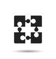 puzzle icon flat on white background vector image vector image