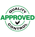 quality control approved icon vector image