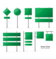 realistic detailed 3d green blank road sign vector image