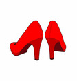 red shoes back vector image vector image