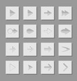 set arrow icons of web design elements vector image