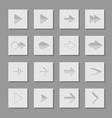 Set arrow icons of web design elements